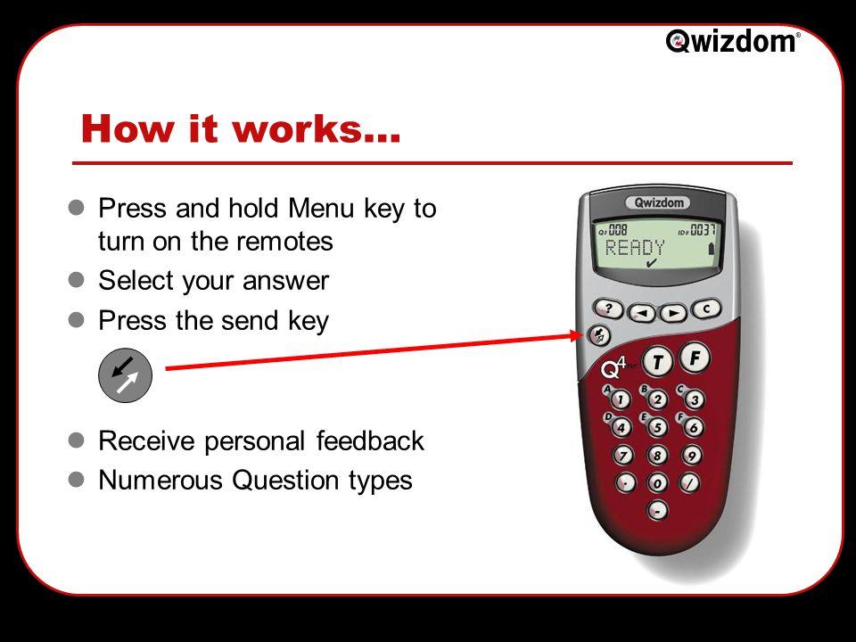 Thank you - Any questions? Qwizdom UK Ltd 0800 849 4047