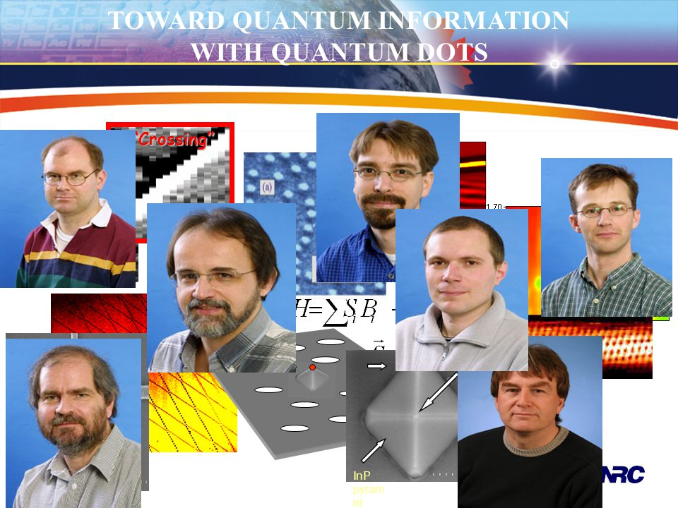 """TOWARD QUANTUM INFORMATION WITH QUANTUM DOTS""""Crossing"""" (8,5) In As do t InP pyram id"""