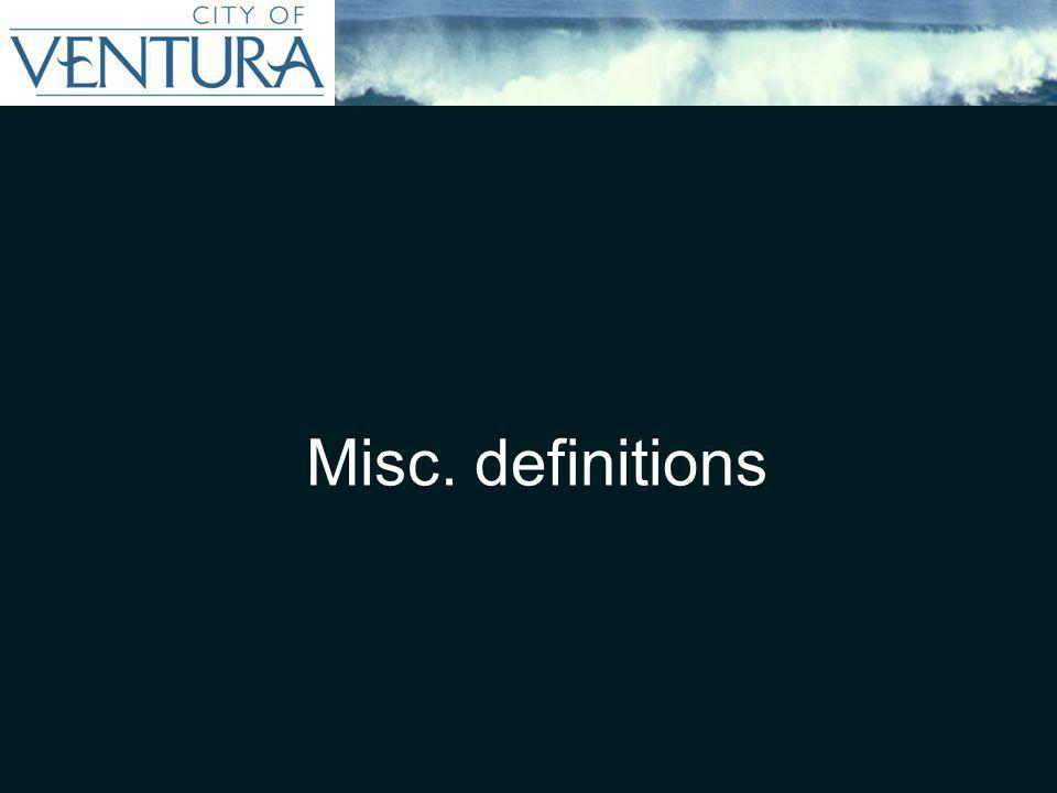 Misc. definitions
