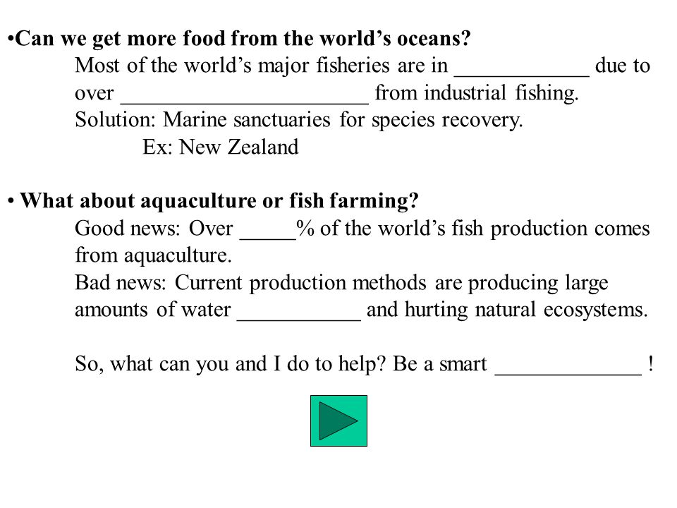 Can we get more food from the world's oceans.