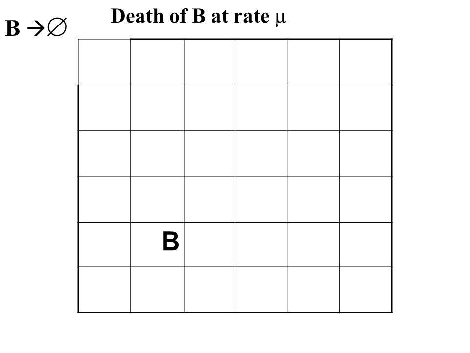 B B B  Death of B at rate 