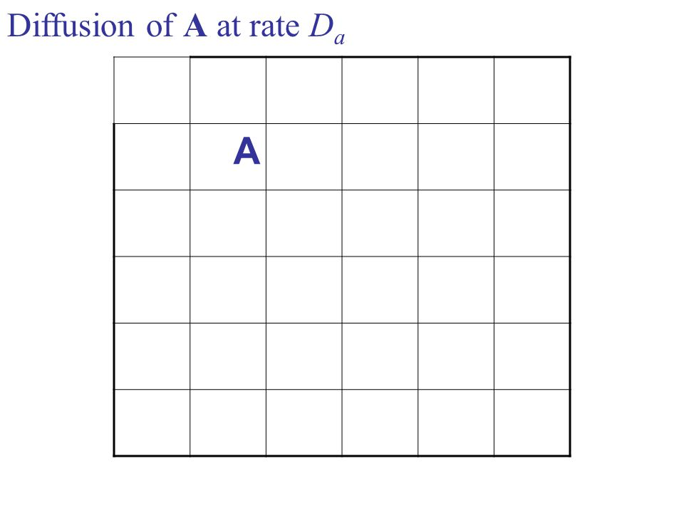A Diffusion of A at rate D a