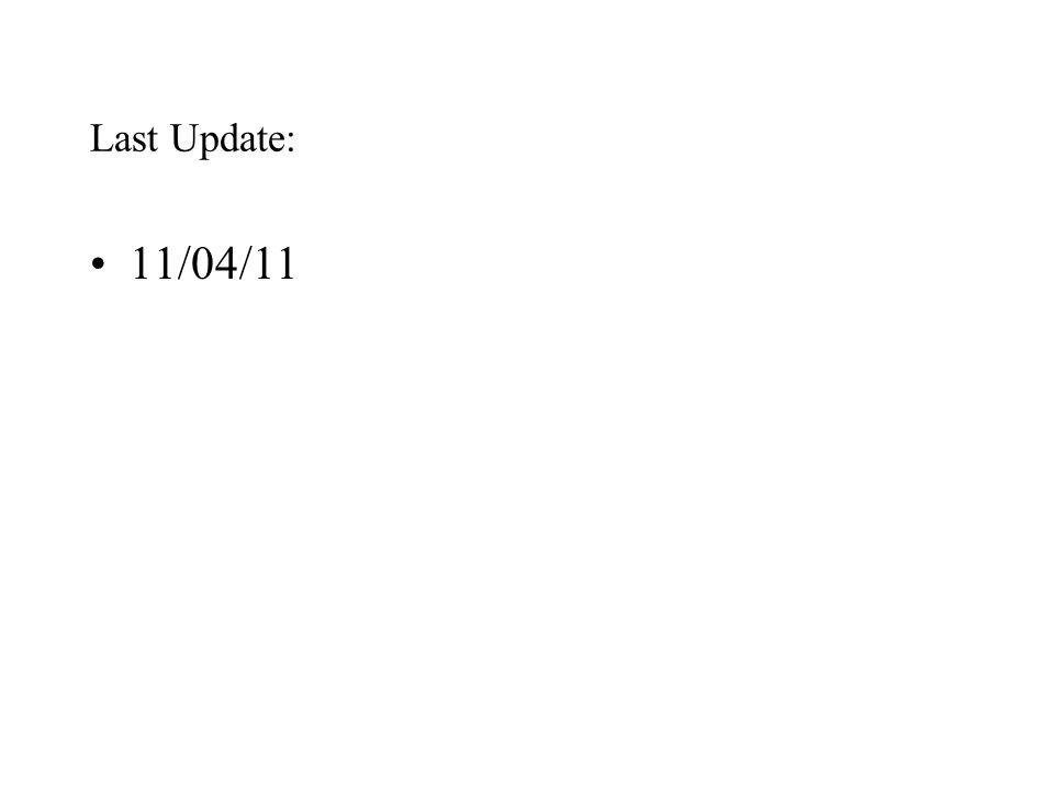 Last Update: 11/04/11