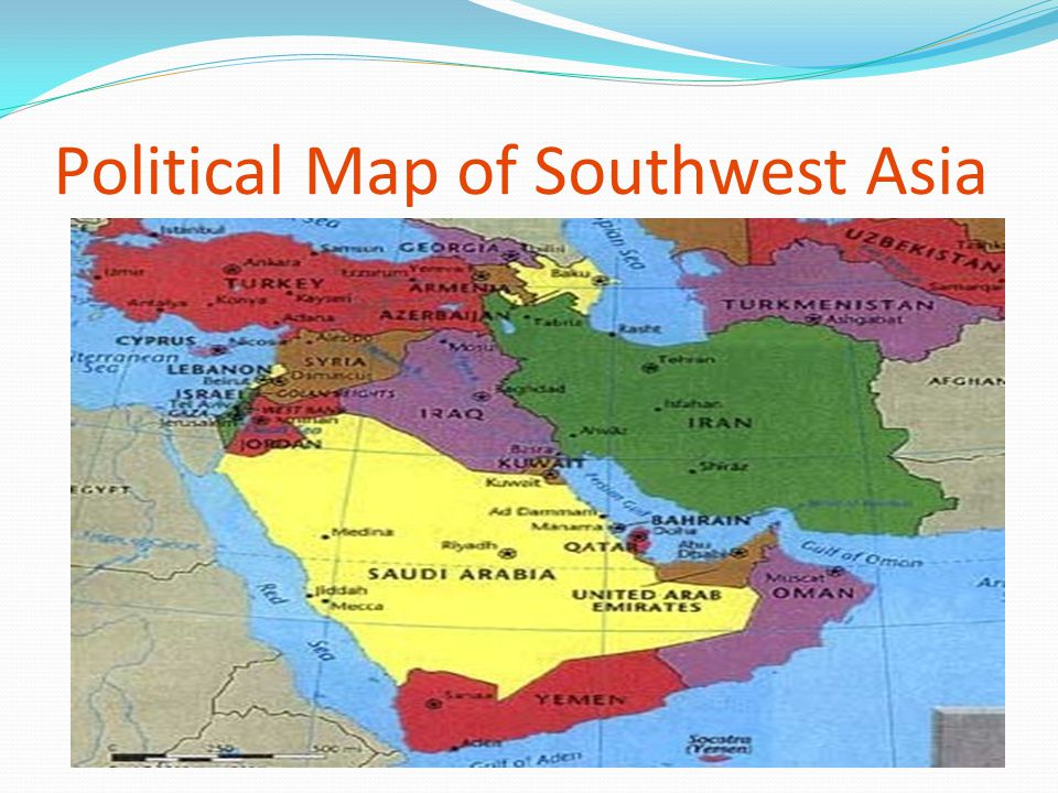 Political Map of Southwest Asia