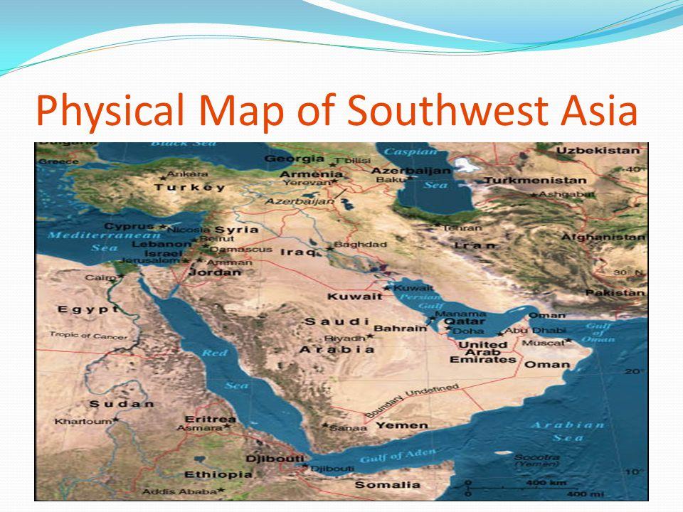 Physical SW Asia Arabian Peninsula Anatolian Peninsula