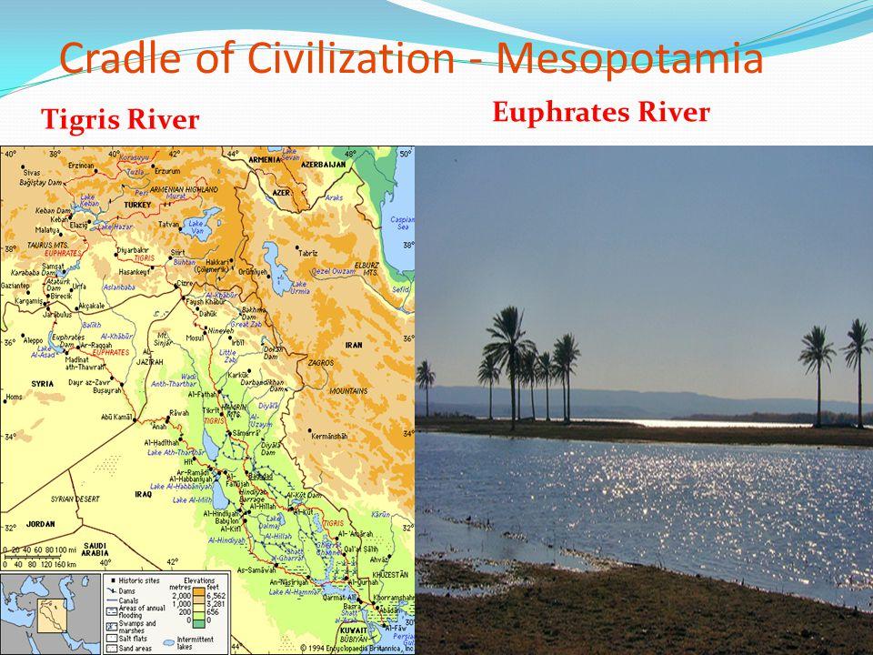 Cradle of Civilization - Mesopotamia Tigris River Euphrates River