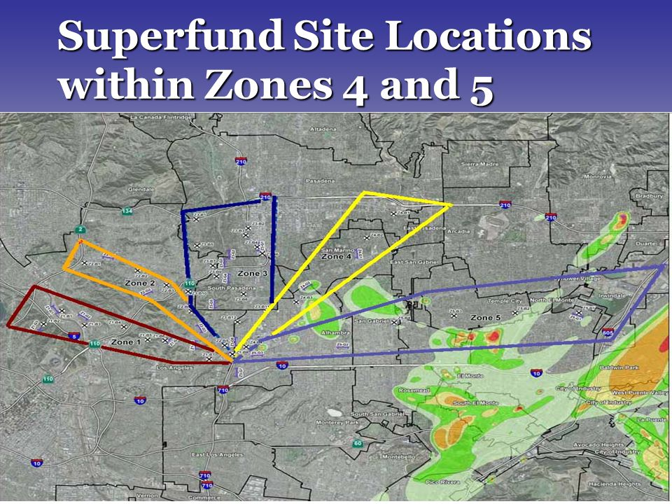 13 Superfund Site Locations within Zones 4 and 5