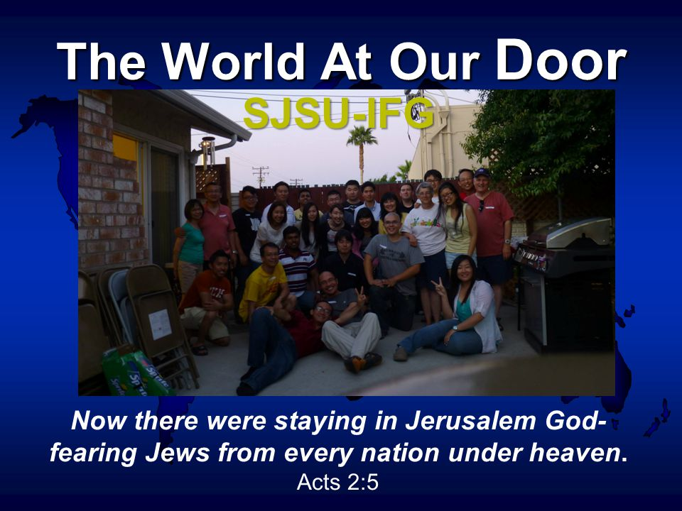 Now there were staying in Jerusalem God- fearing Jews from every nation under heaven.