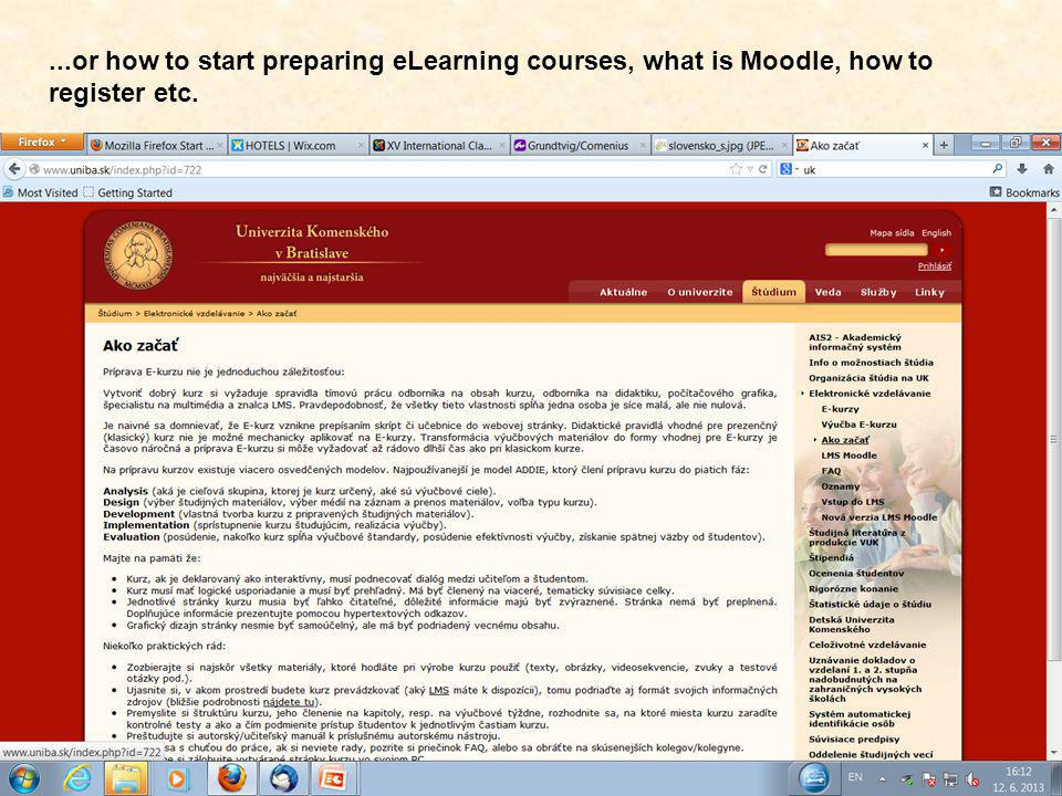 Moodle at UC