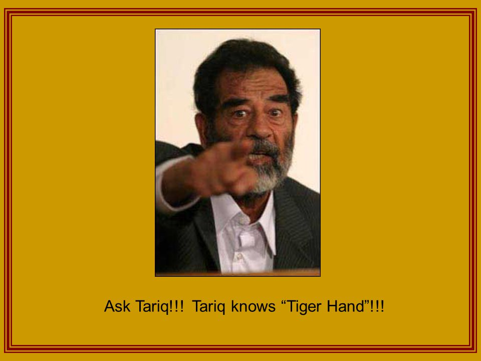 Ask Tariq!!! Tariq knows Tiger Hand !!!