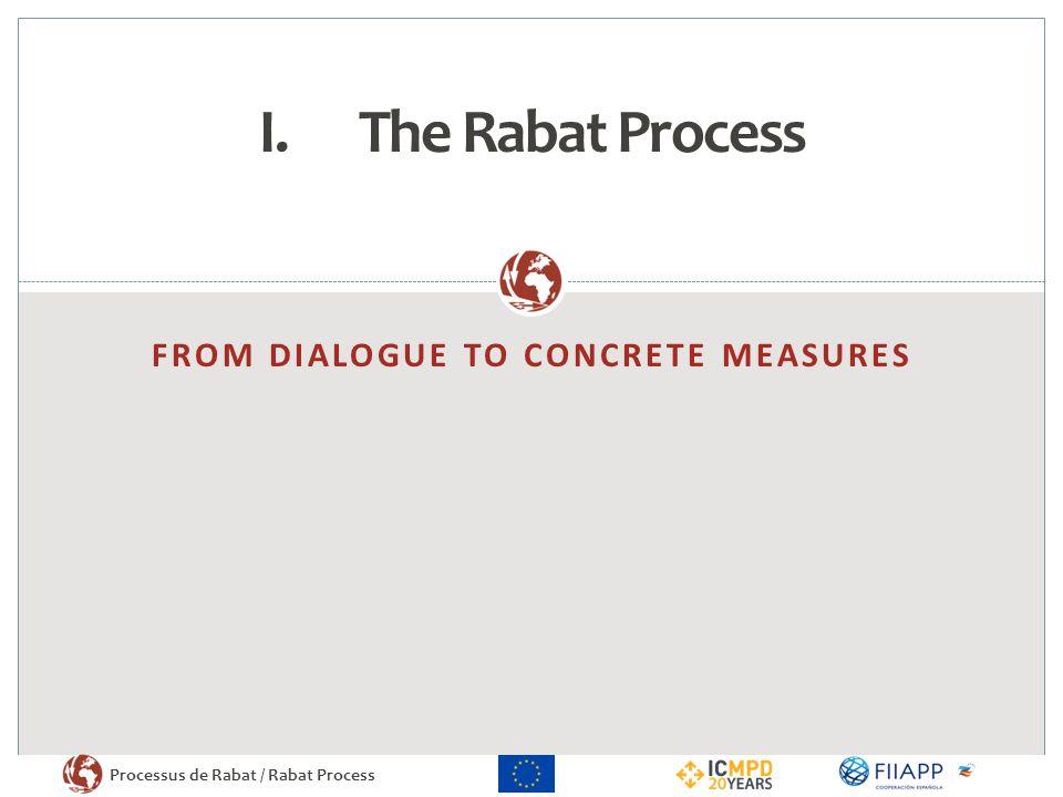 Processus de Rabat / Rabat Process FROM DIALOGUE TO CONCRETE MEASURES I.The Rabat Process