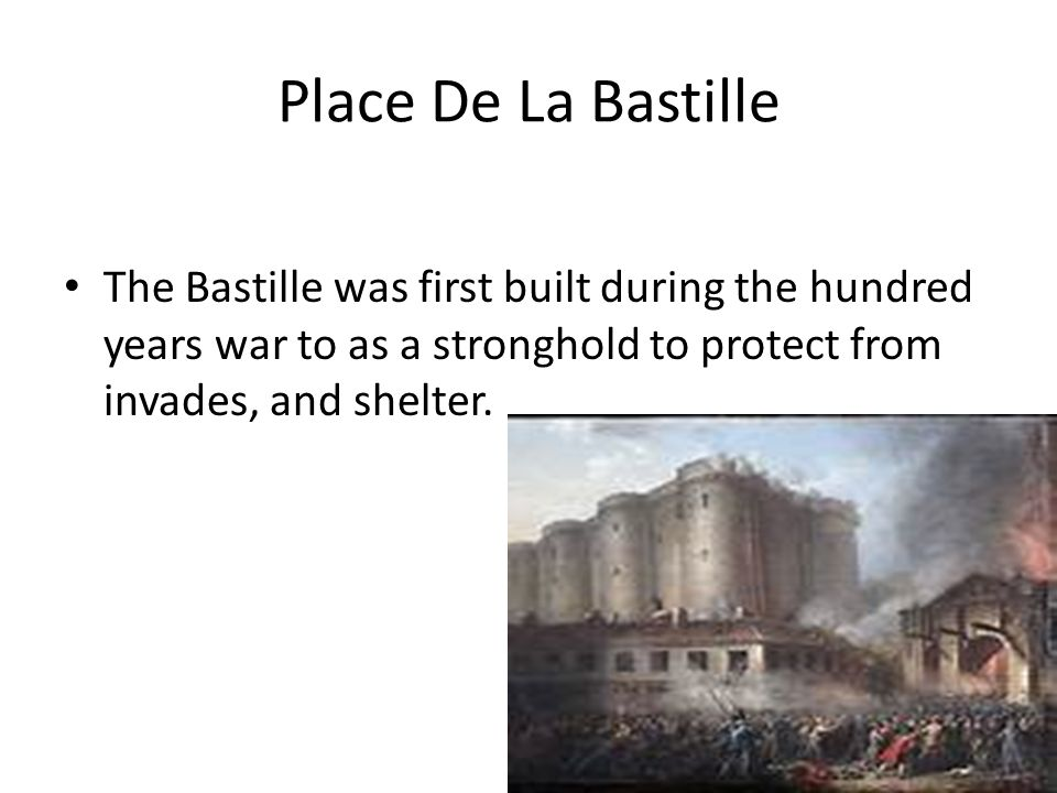 Place De La Bastille The fortress was declared a state prison in 1417, this role was expanded first under the English occupiers of the 1420s and 1430s, and then under Louis XI in the 1460s.