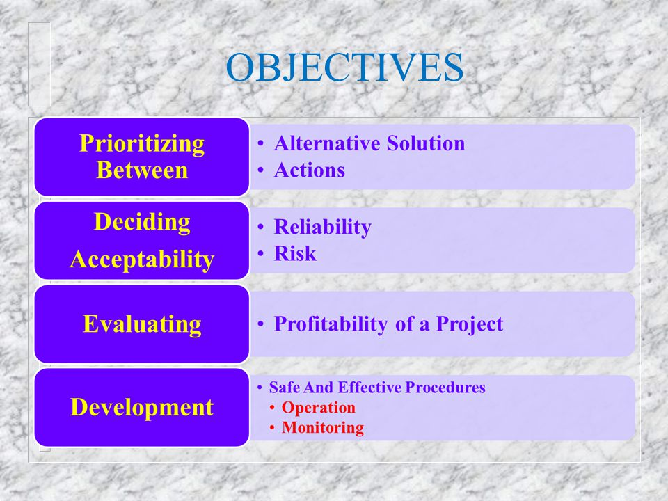 HAZOP MEETING n Proposed agenda: – Introduction and presentation of participants – Overall presentation of operations subject to HAZOP – Description of HAZOP method – Presentation of first logical part of operations – Analysis of first part of operations using the guide- words – Continue presentation and analysis – Coarse summary of findings n Focus should be on potential hazards as well as potential operational problems n Each session of the HAZOP meeting should not exceed two hours