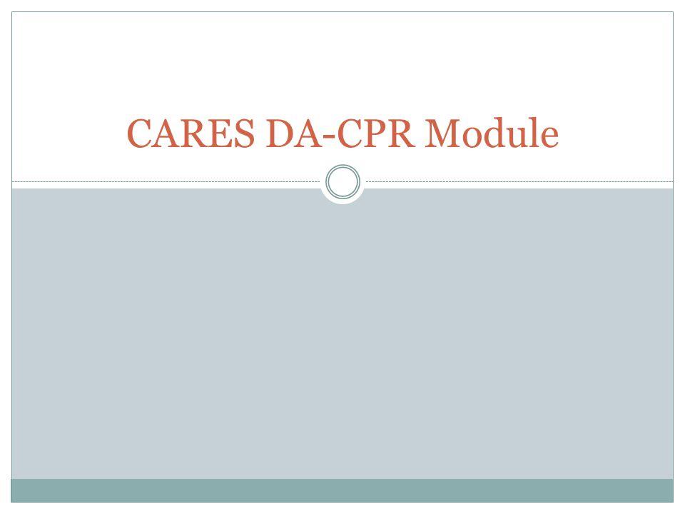 CARES DA-CPR Module