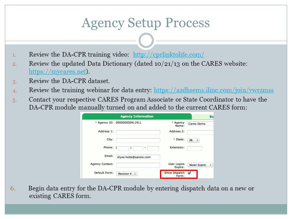 Agency Setup Process 1.