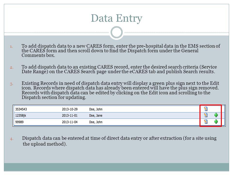 Data Entry 1.