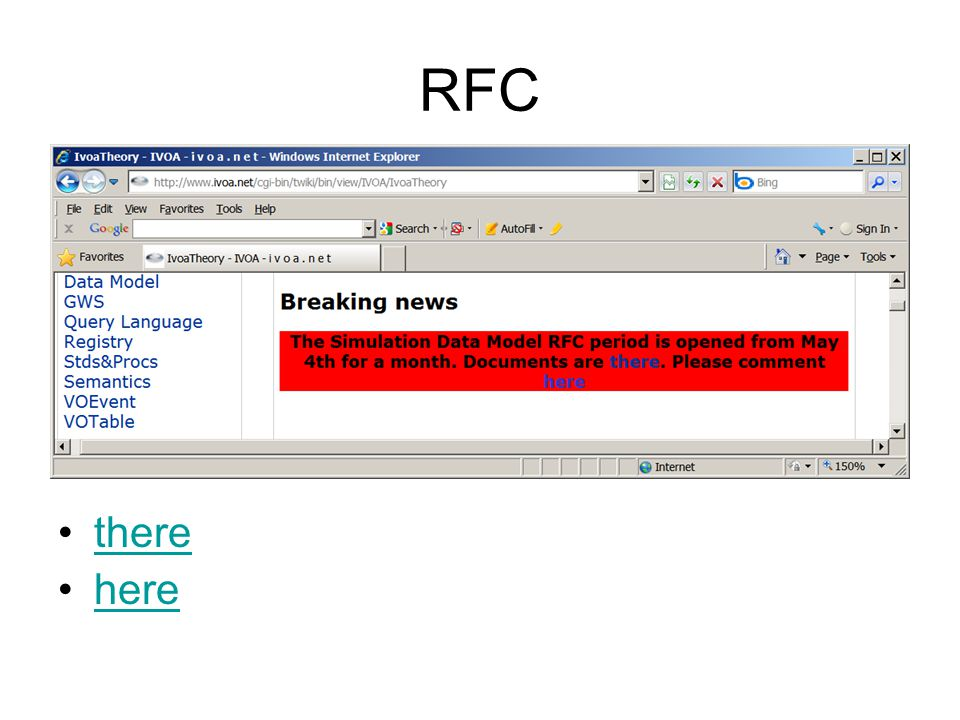Which docs in RFC.