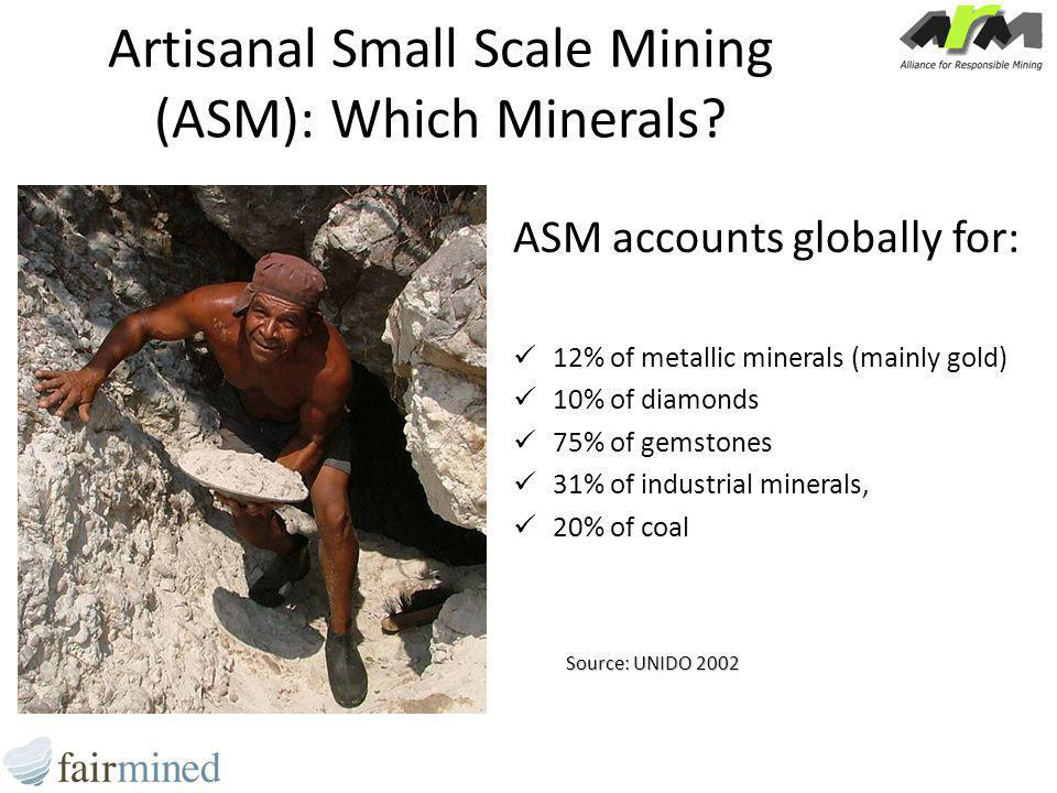 Artisanal Small Scale Mining (ASM): Which Minerals.