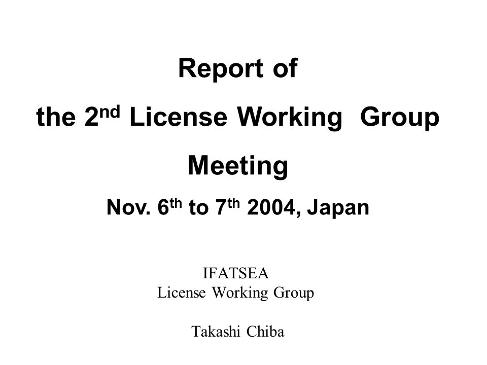 Present Situation of Licensing Regulation ICAO-ANNEX-1 ATCO Aviation Law Examination Regulation Issue the License and Rating ATSEP Examination Regulation Issue the License and Rating Aviation Law ESARR-5 -5 Requirement shall be implemented by 11.04.2005 Requirement has been implemented by 10.11.2003 International national We want to make a same situation like ATCO.