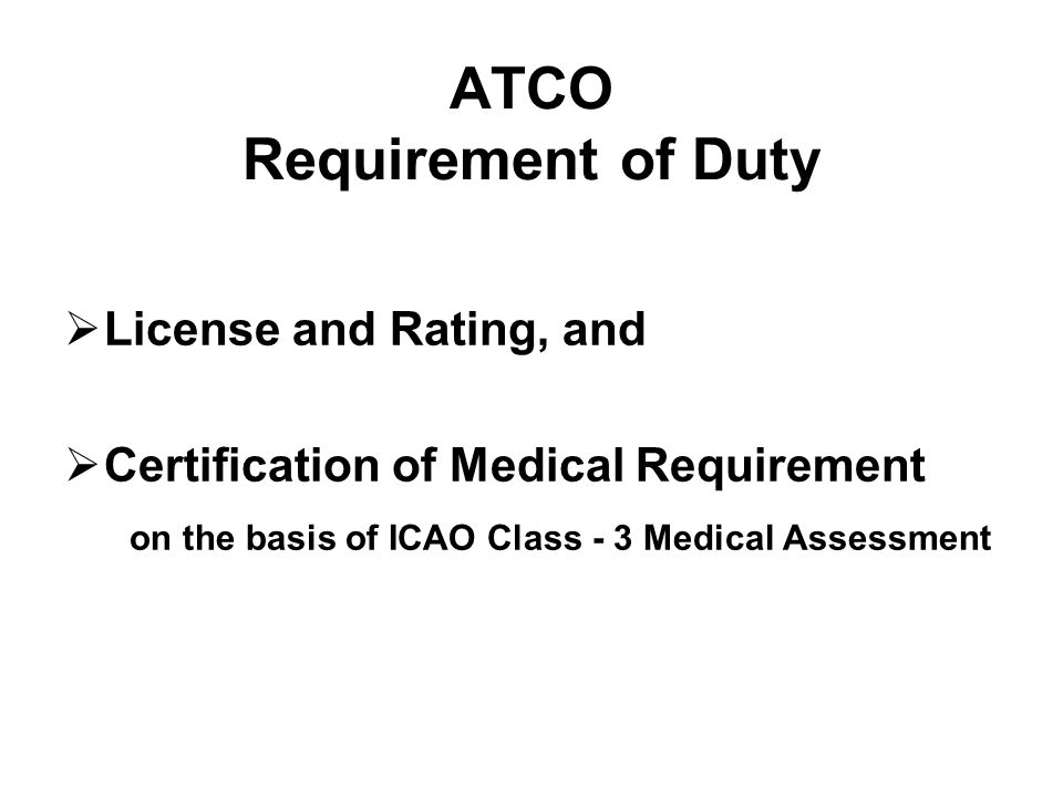 6.6 Class 4 Medical Assessment 6.6.1 Assessment issue and renewal 6.6.1.1 An applicant for Air Traffic Safety Electronics Personnel license shall undergo an initial medical examination for the issue of a Class 4 Medical Assessment.