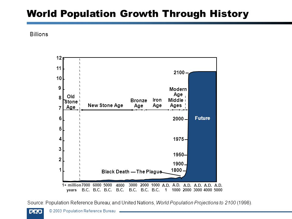 © 2003 Population Reference Bureau A.D.2000 A.D. 1000 A.D.