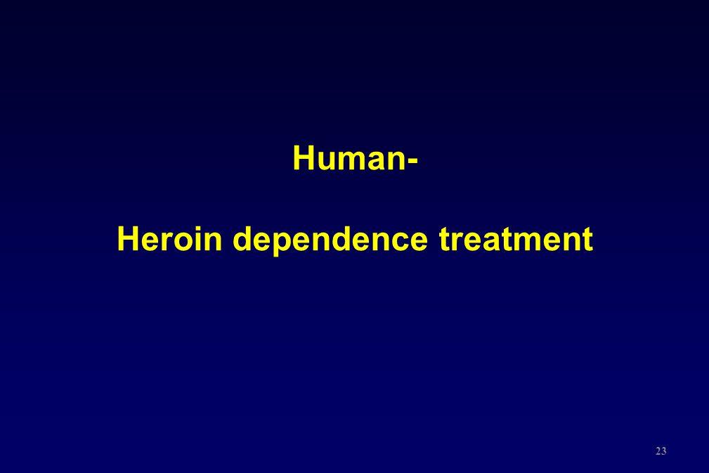 23 Human- Heroin dependence treatment