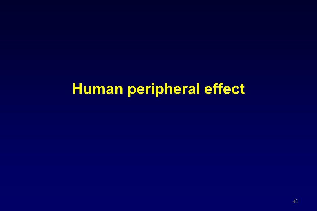 Human peripheral effect 41