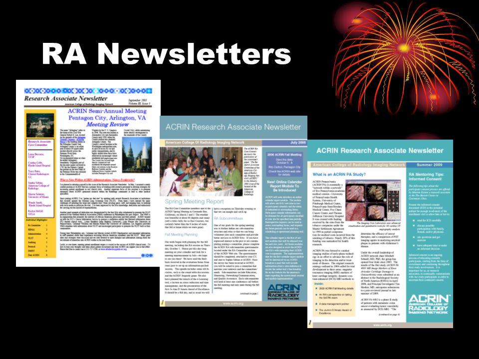 RA Newsletters