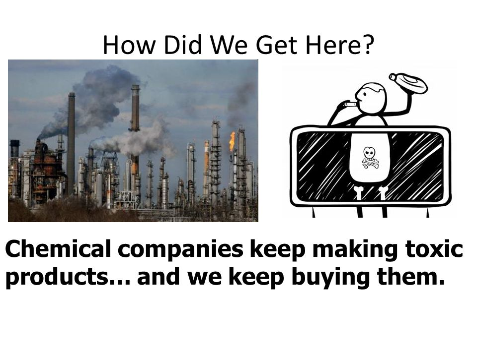 How Did We Get Here Chemical companies keep making toxic products… and we keep buying them.