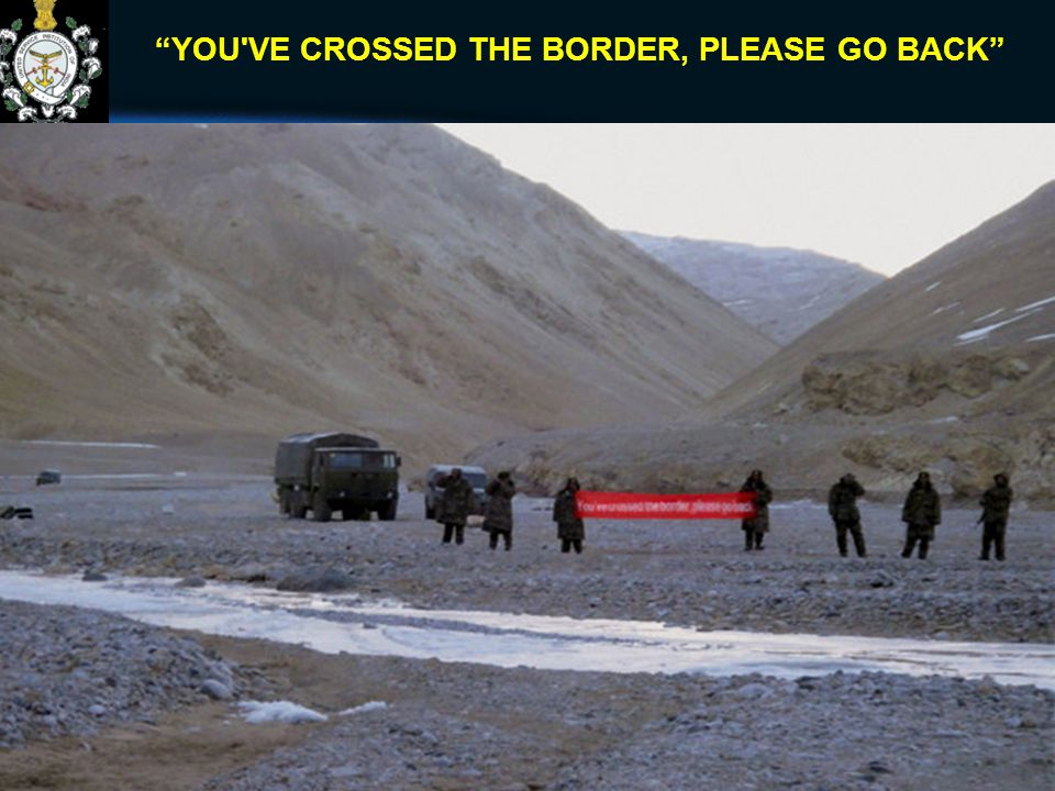 """YOU'VE CROSSED THE BORDER, PLEASE GO BACK"" 11"