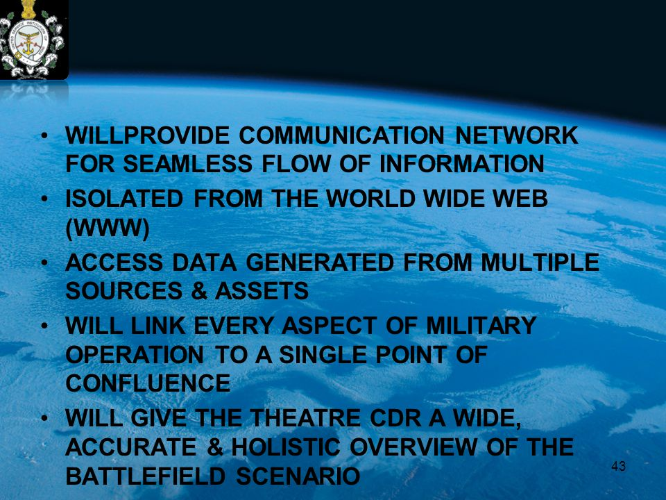 WILLPROVIDE COMMUNICATION NETWORK FOR SEAMLESS FLOW OF INFORMATION ISOLATED FROM THE WORLD WIDE WEB (WWW) ACCESS DATA GENERATED FROM MULTIPLE SOURCES