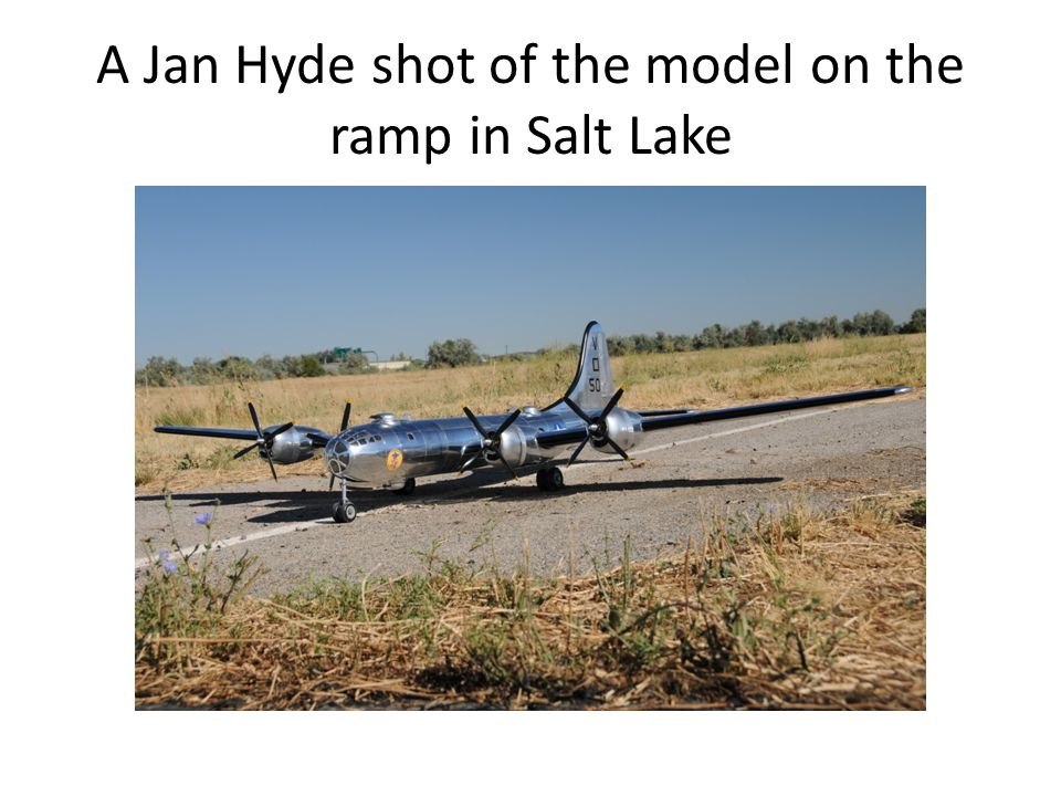 A Jan Hyde shot of the model on the ramp in Salt Lake