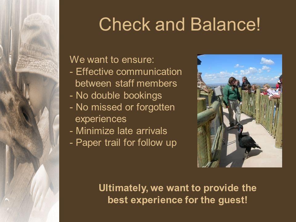 Check and Balance.