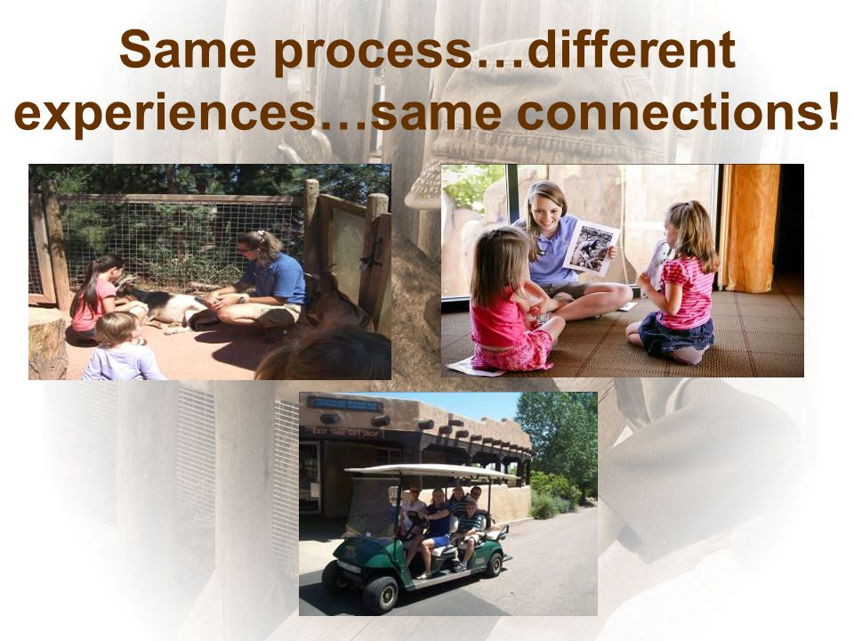 Same process…different experiences…same connections!