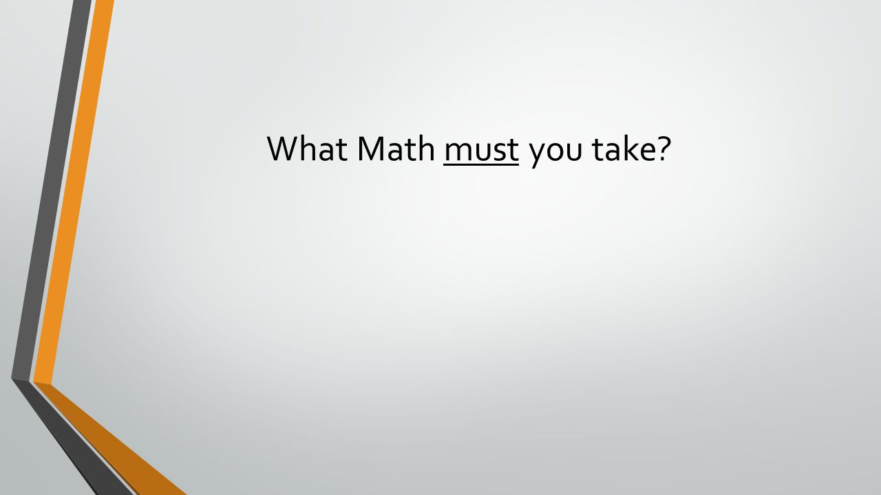 What Math must you take?