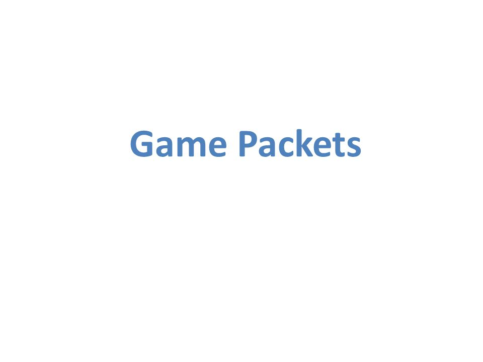 Game Packets