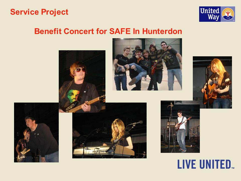Service Project Benefit Concert for SAFE In Hunterdon