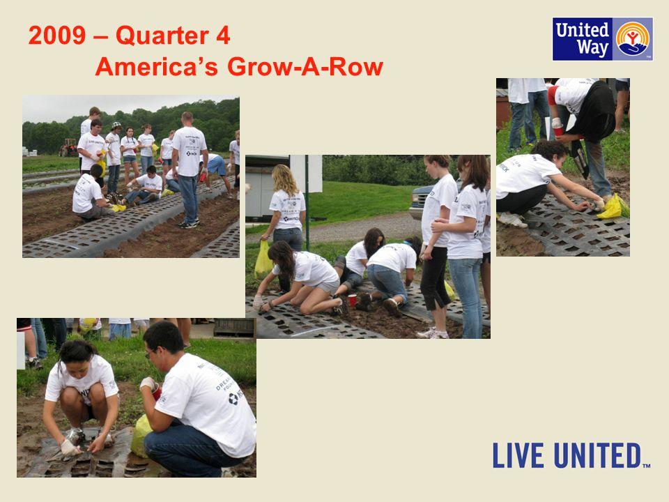 2009 – Quarter 4 America's Grow-A-Row