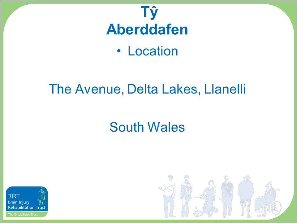Tŷ Aberddafen Location The Avenue, Delta Lakes, Llanelli South Wales