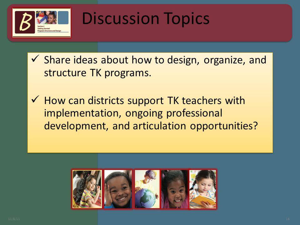 11/8/1116 Discussion Topics