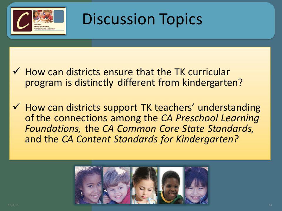 Discussion Topics 11/8/1124 Discussion Topics