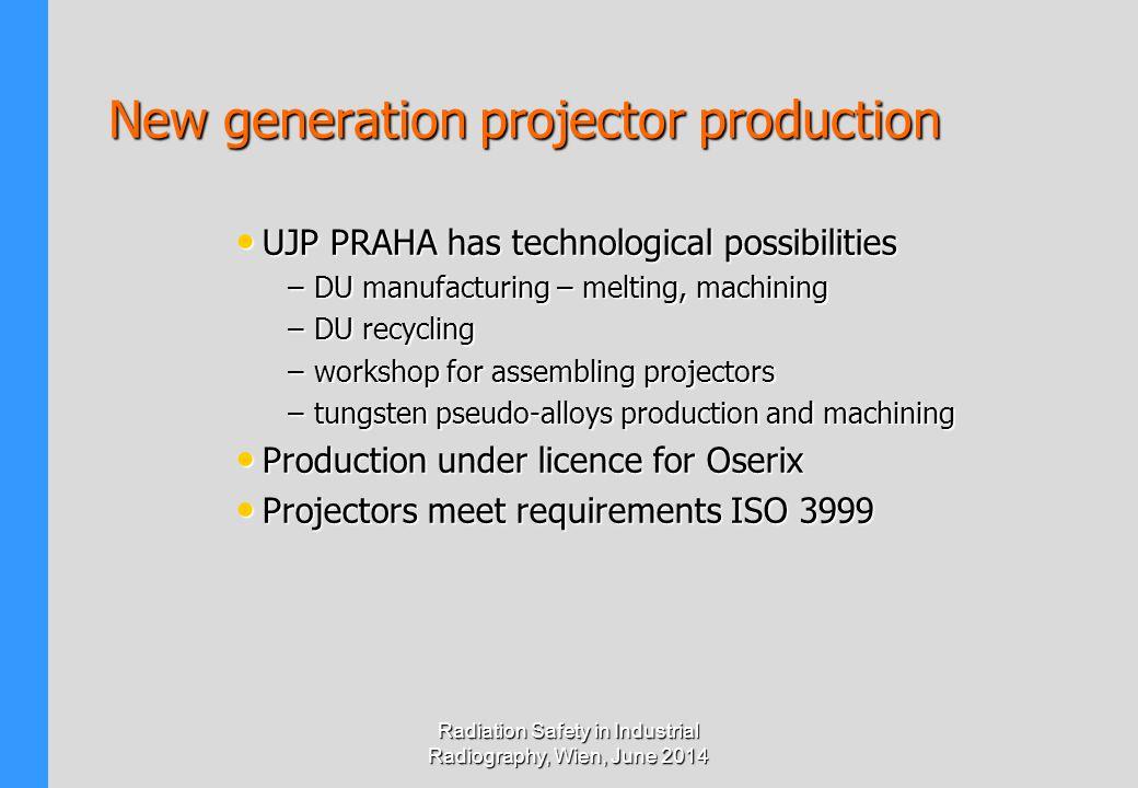 New generation projector production UJP PRAHA has technological possibilities UJP PRAHA has technological possibilities –DU manufacturing – melting, m