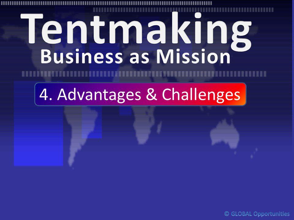4. Advantages & Challenges Business as MissionBusiness as Mission