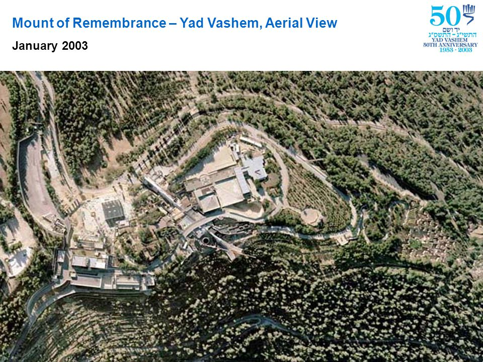 Model of Yad Vashem upon completion of construction in 2004
