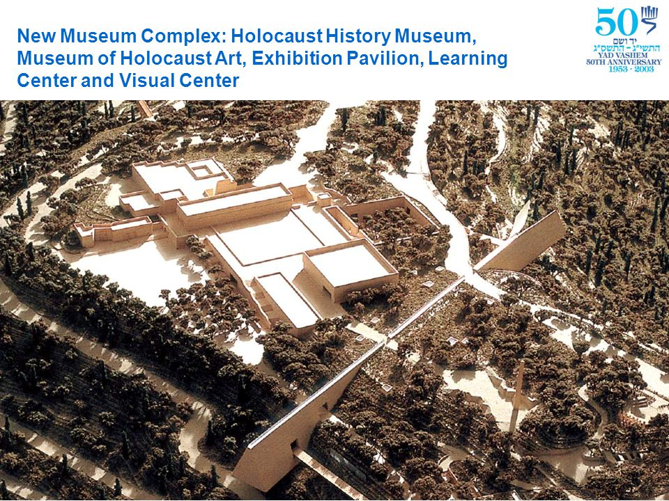 New Museum Complex The Holocaust History Museum The Hall of Names The Museum of Holocaust Art The Visual Center The Exhibition Pavilion The Synagogue The Learning Center The Hall of Remembrance