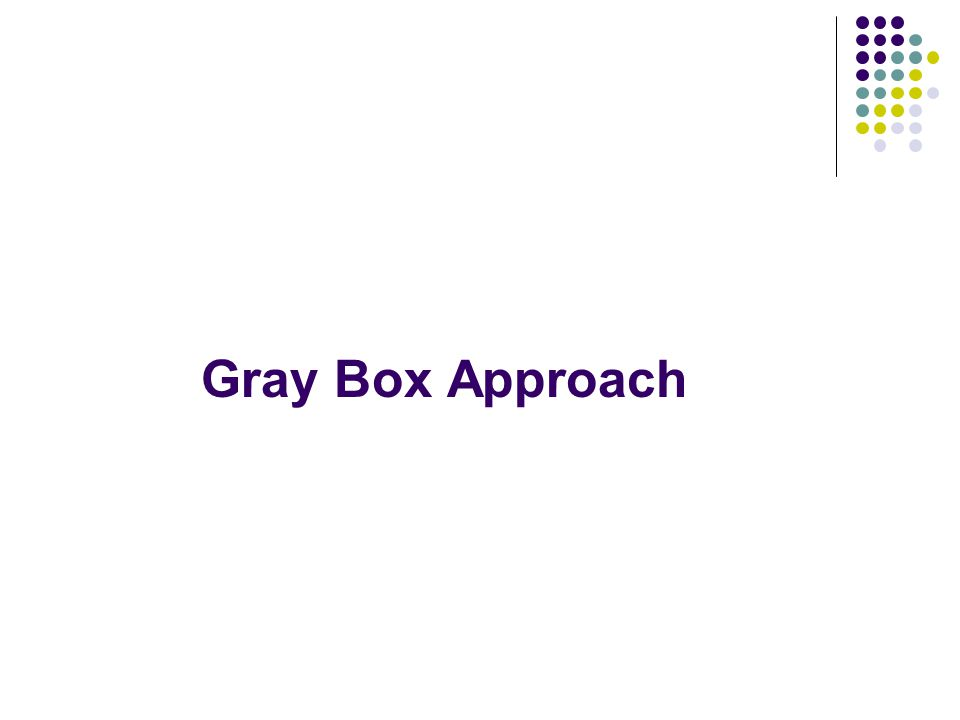 Gray Box Approach