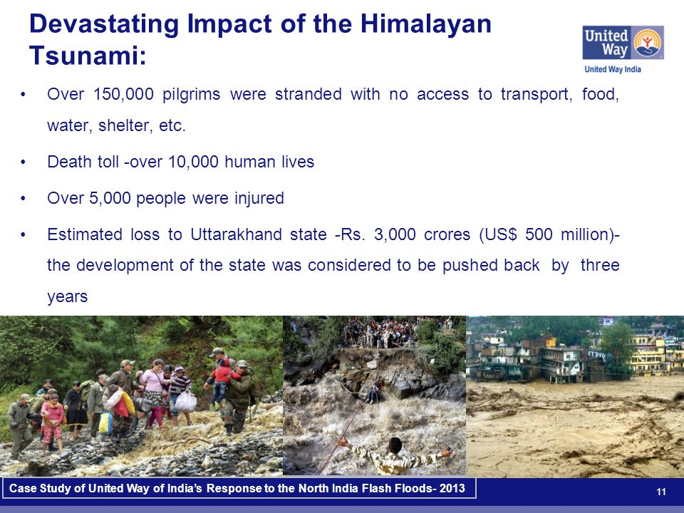 11 Devastating Impact of the Himalayan Tsunami: Over 150,000 pilgrims were stranded with no access to transport, food, water, shelter, etc.