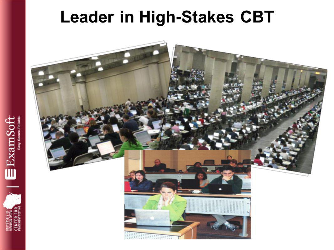 Leader in High-Stakes CBT