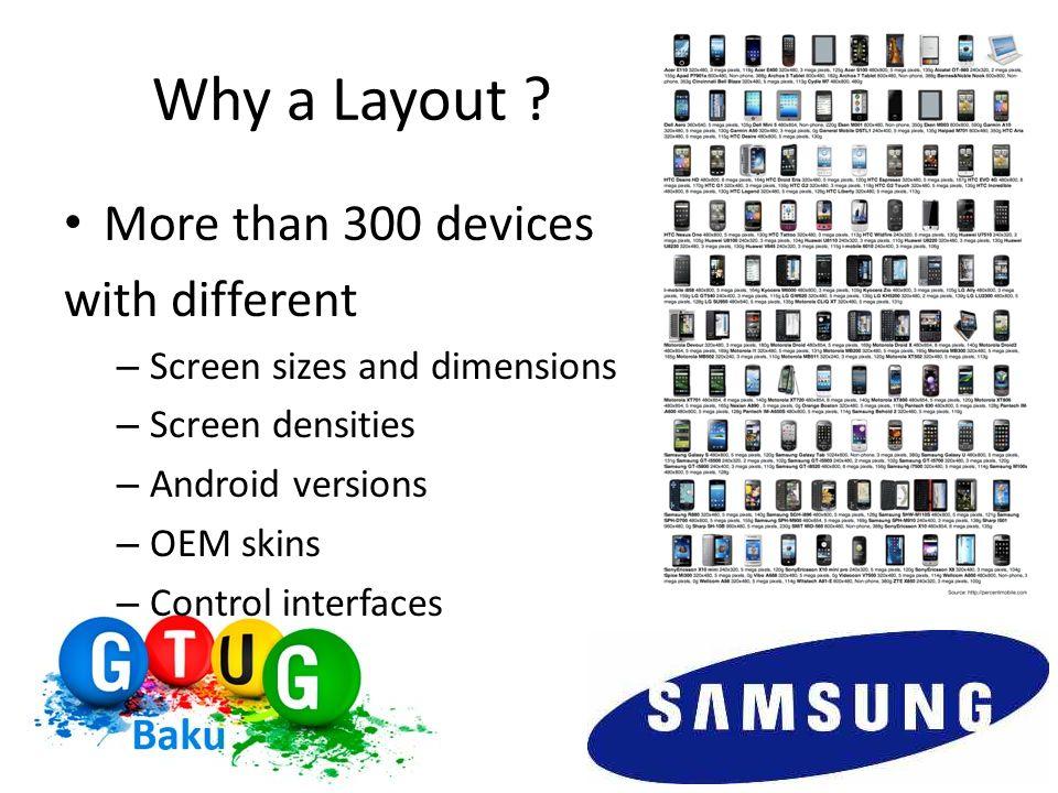 Android Layouts LinearLayout RelativeLayout TableLayout FrameLayout AbsoluteLayout …