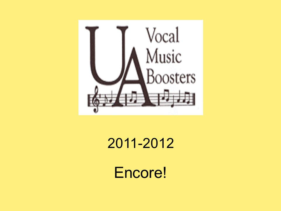 2011-2012 Encore!